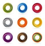 Diseños del círculo que remolinan Fotografía de archivo