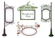 Diseños del hierro labrado Foto de archivo