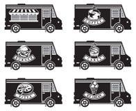 Diseños del icono del camión de la comida Fotografía de archivo libre de regalías