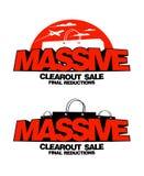 Diseños masivos de la venta del clearout Foto de archivo libre de regalías