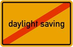 Disestablished сбережения дневного света преобразования времени Европейского союза abgeschafft Zeitumstellung Winterzeit Sommerze иллюстрация штока