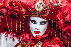 Disfarce Venetian vermelho Foto de Stock