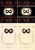 Disfrace las máscaras Página de título para el diseño ilustración del vector