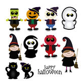 Disfraces de Halloween Fotos de archivo libres de regalías