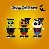 Disfraces de Halloween Imagen de archivo libre de regalías