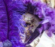 Disfraz-Cierre-para arriba veneciano Foto de archivo libre de regalías