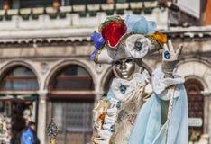 Disfraz veneciano Imágenes de archivo libres de regalías