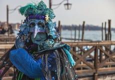 Disfraz veneciano complejo Foto de archivo libre de regalías