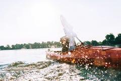 Disfrutar de aventura del río Fotografía de archivo libre de regalías