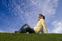 Disfrutar de buena música Fotografía de archivo libre de regalías