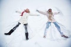 Disfrutar de invierno imagen de archivo libre de regalías