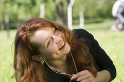 Disfrutar de la música foto de archivo libre de regalías