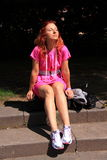 Disfrutar de la semana de la moda de Amsterdam del sol Imagen de archivo