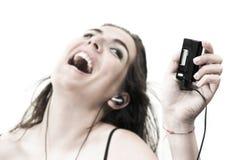 Disfrutar de música Foto de archivo libre de regalías