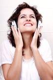 Disfrutar de música Imagen de archivo libre de regalías