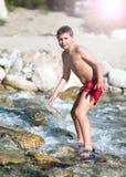 Disfrutar de un día en el río 2 Foto de archivo