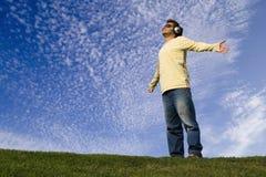 Disfrutar de una buena música Foto de archivo libre de regalías