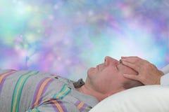 Disfrutar de una sesión de terapia de relajación Foto de archivo libre de regalías