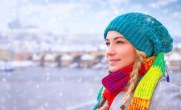 Disfrutar de vacaciones de invierno fotografía de archivo libre de regalías