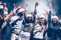 Disfrutar del partido del Año Nuevo Imagen de archivo libre de regalías