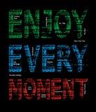 Disfrute de cada imagen del vector del Grunge del momento Fotografía de archivo