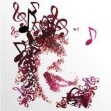 Disfrute de la melodía de la música para la vida 01 Foto de archivo libre de regalías