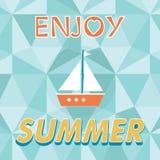 Disfrute de la tipografía del vector del verano Imagenes de archivo