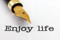 Disfrute de la vida Imagen de archivo libre de regalías