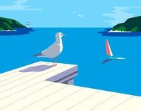 Disfrute de la vida marina ilustración del vector