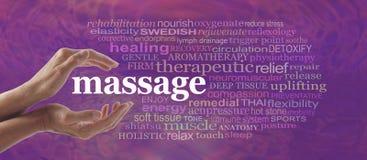 Disfrute de las ventajas del masaje Foto de archivo libre de regalías