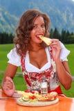 Disfrute de su comida Imagen de archivo libre de regalías