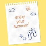 ¡Disfrute de su verano! Fotografía de archivo