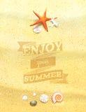 Disfrute de su verano Sandy Background. Imagen de archivo libre de regalías