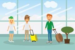 disfrute de su viaje del viaje del día de fiesta en todo el mundo en el aeropuerto Foto de archivo libre de regalías