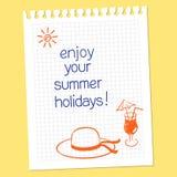 ¡Disfrute de sus vacaciones de verano! Foto de archivo