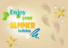 Disfrute de sus vacaciones de verano Imagen de archivo libre de regalías