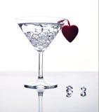Disfrute del día de tarjeta del día de San Valentín Imágenes de archivo libres de regalías