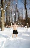 Disfrute del invierno Imagenes de archivo