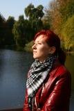 Disfrute del sol del otoño Imágenes de archivo libres de regalías