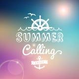 Disfrute del verano que llama el cartel del vintage Imagen de archivo libre de regalías