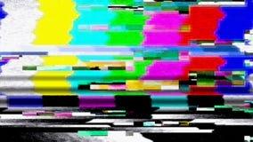 Disfunzione 11025 delle barre dei colori di impulso errato TV di dati Fotografia Stock Libera da Diritti