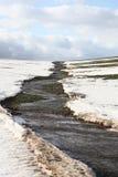 Disgeli della neve. I flussi di corrente. Fotografia Stock