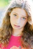 Disgrunteled looking teen Stock Photo