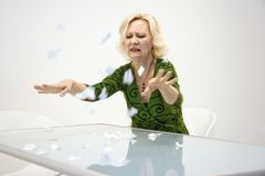 Disgruntled businesswoman Royalty Free Stock Photography