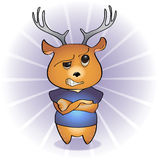 Disgruntled deer Royalty Free Stock Images