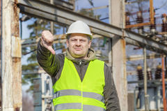 Disgruntled Electrical Engineer Royalty Free Stock Photo