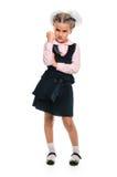 Disgruntled girl. Back to school stock image
