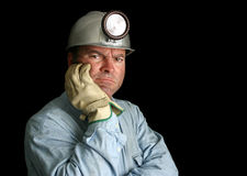Disgruntled Mine Worker stock photography