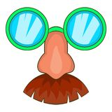 Disguise mask icon, cartoon style. Disguise mask icon in cartoon style isolated on white background vector illustration Royalty Free Stock Photos