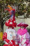 Disguised Couple - Annecy Venetian Carnival 2013 Stock Photo